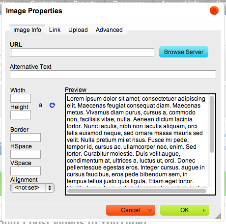 Email Marketing File Browser Dialog